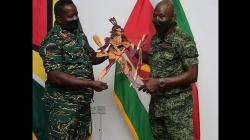 GDF, Surinamese soldiers focus on joint surveillance, intelligence exchange