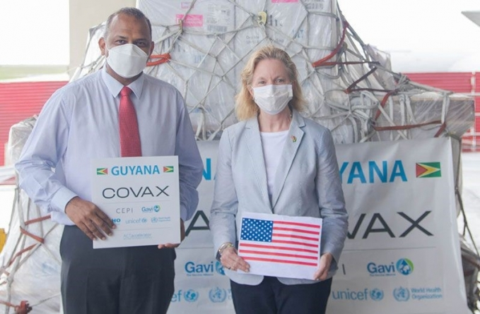 Guyana receives 100,620 doses of Pfizer vaccine from US