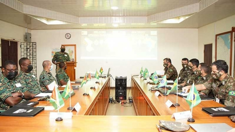 Military Exchange with Brazil commences in Lethem